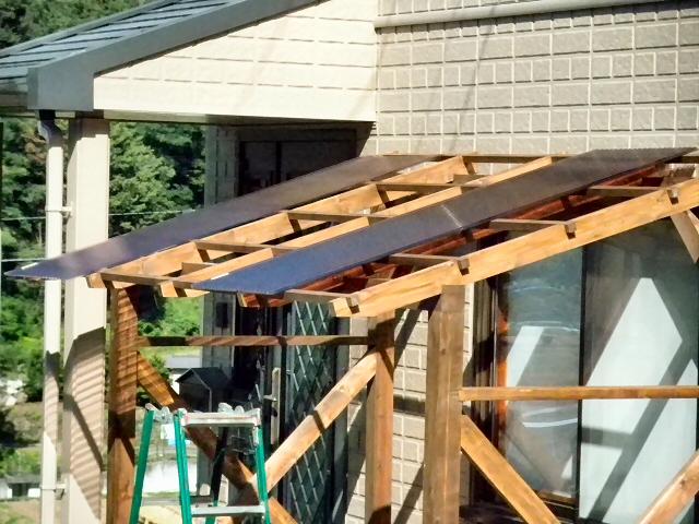 自転車置き場 屋根 自作